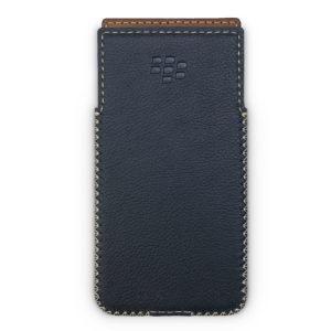 Blackberry KeyOne Handmade Leather Case with Built-in Holster - Dot Black