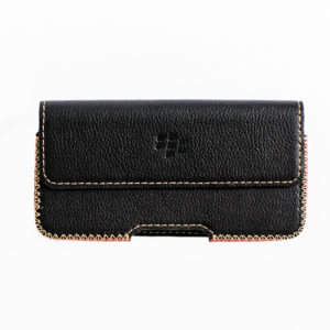 Blackberry KeyOne Handmade Leather Case Horizontal with Built-in Holster and Belt-Clip