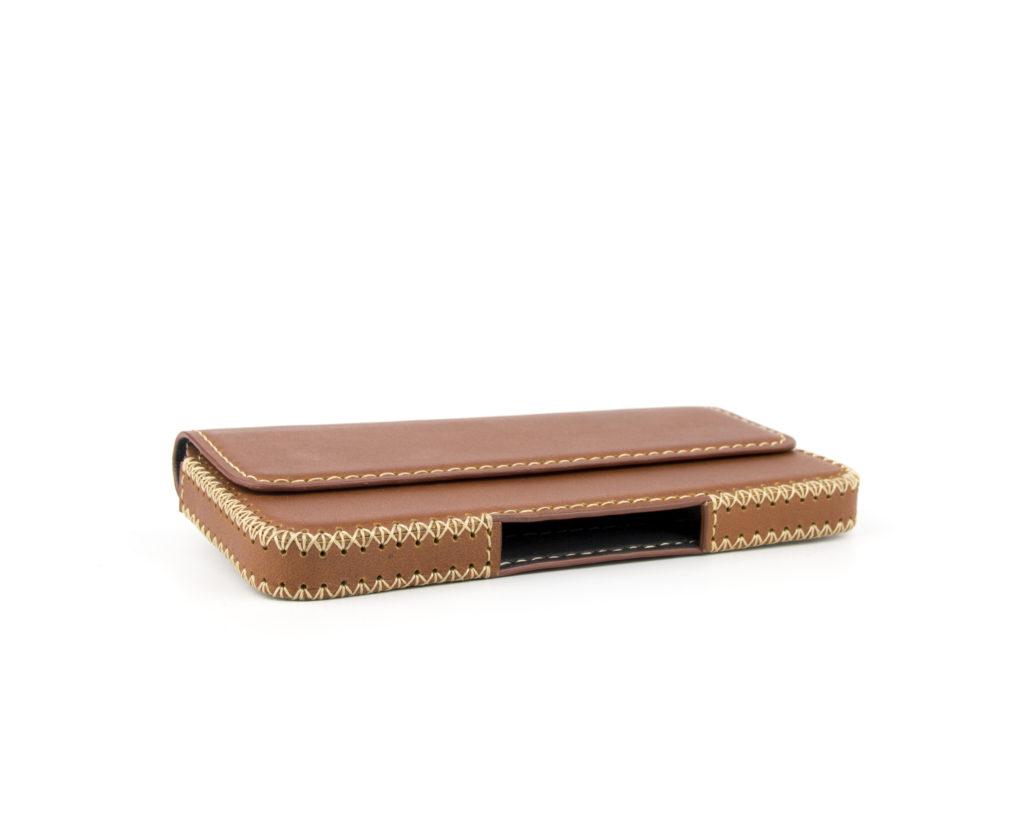 OTIS iPhone X Handmade Leather Case Horizontal with Belt-Loop