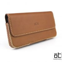 iPhone XR Belt Leather Case - Horizontal Belt Case AA5