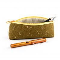 OTIS Fountain Pen Long Pouch Pencil Japanese Cotton Fabric Dragon-fly Pattern